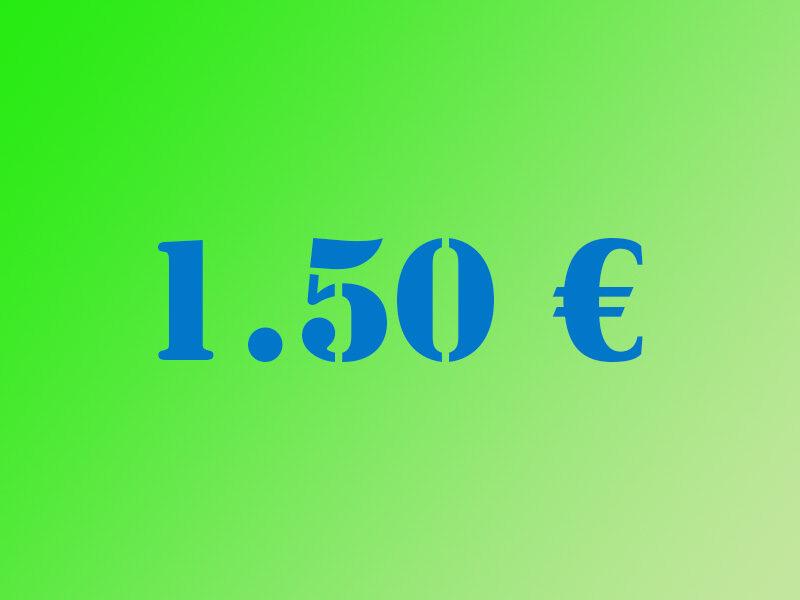 Ziedojums 1.50€