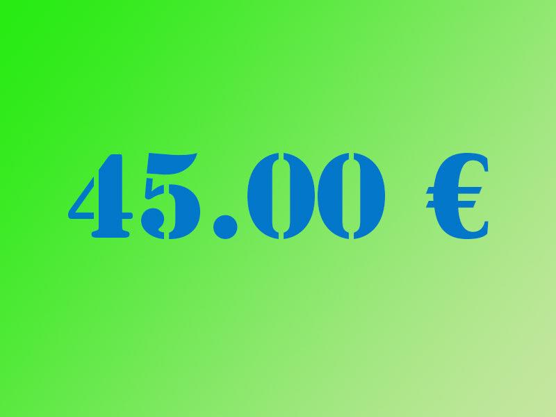 Ziedojums 45.00€